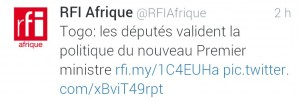 RFI togo gouvernement